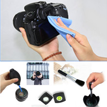 NEW 4 in 1 Camera Cleaning Set Air Blower Lens Cleaning Cloth Brush Spirit Hot Shoe Cover for all DSLR(China (Mainland))
