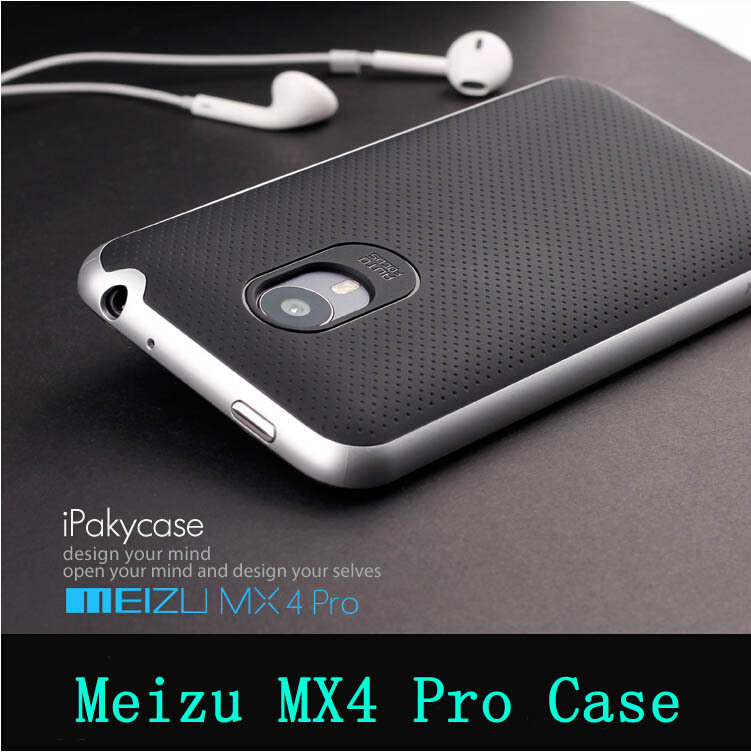 2015 New arrvial Meizu MX4 pro case high quality PC+TPU material luxury mobile phone back cover for Meizu mx4 pro+free shipping(China (Mainland))