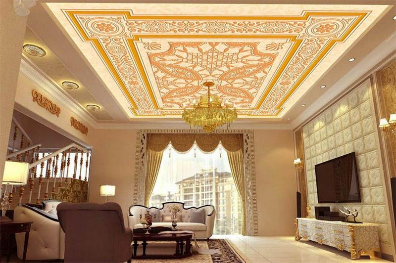 Popular painting wood carvings buy cheap painting wood for Ceiling mural in smokers lounge