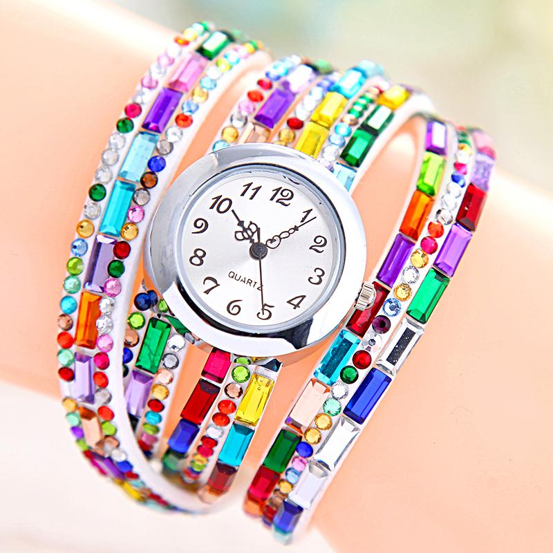 Hot Luxury Fabulous Women Quartz Watches Casual Ladies Relogios Clocks Fashion Dress Wrist Watch Diamonds Bracelet Wristwatches(China (Mainland))
