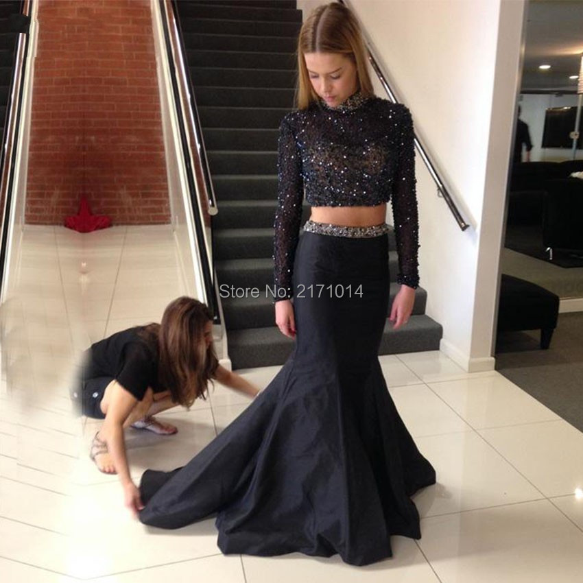 Fine Luxury Sexy Sequin Beads Silver Long Sleeves Elegant Gowns Hofit Golan Red Carpet A-line Celebrity Dresses 2017 Vestidos Longo Celebrity-inspired Dresses