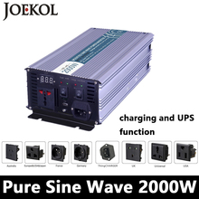 Buy Full Power 2000W Pure Sine Wave Inverter,DC 12V/24V/48V AC110V/220V,off Grid Solar Inverter Battery Charger UPS for $213.94 in AliExpress store