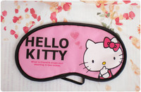 5121 free shipping pink Hello KT cartoon travel blindages dodechedron sleeping eye mask general
