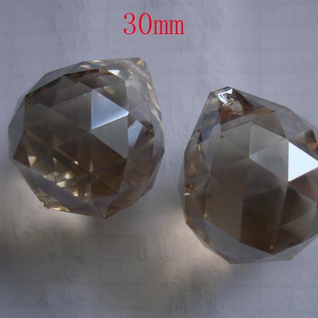 102pcs/lot 30mm cognac crystal ball for door curtain decor wedding garland strand free shipping<br><br>Aliexpress