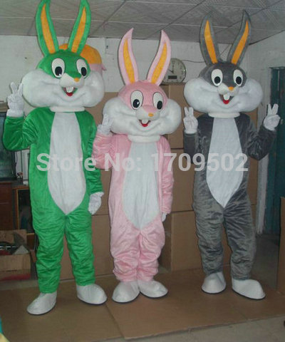 High Quality Bugs Bunny Adult plush mascot costume for festive & party supplies kigurumi disfraces fancy dress anime cosplay(China (Mainland))