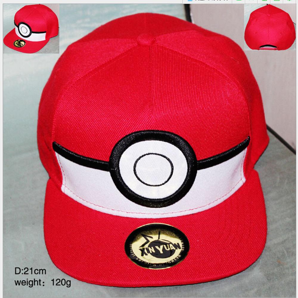Cartoon Pokemon ball Cosplay Cap Red Pikachu Novelty Anime Pocket Monster ladies dress Pokemon Hat charms Costume Baseball cap(China (Mainland))