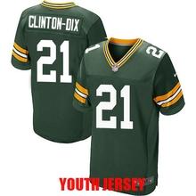 Green Bay Packer Brett Favre Aaron Rodgers Ha Ha Clinton-Dix Eddie Lacy Clay Matthews Bart Starr For YOUTH KIDS(China (Mainland))