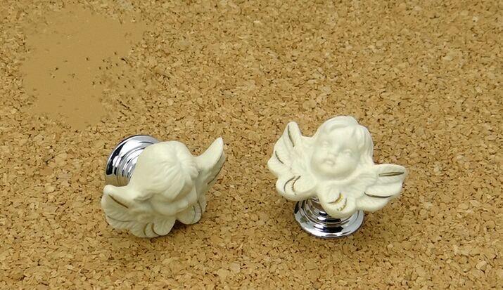 moden  creative copper handles silver drawer shoe cabinet knobs pulls ceramic dresser  cupboard furniture decoration kids knob