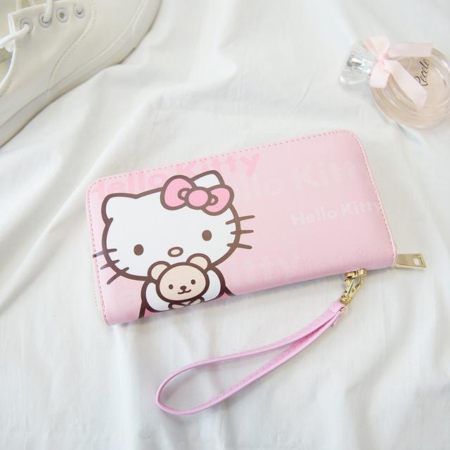 2016 новое поступление! Милая кошечка кошелек животное долго бумажник розовый леденец ...