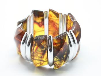 Бусины браслет модный себе плетёные браслеты смола янтарь браслет браслеты женщины ...