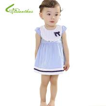 2016 Summer Princess girls dress toddle girls lace bowknot cotton dress sleeveless dress baby casual dress Free drop Shipping(China (Mainland))