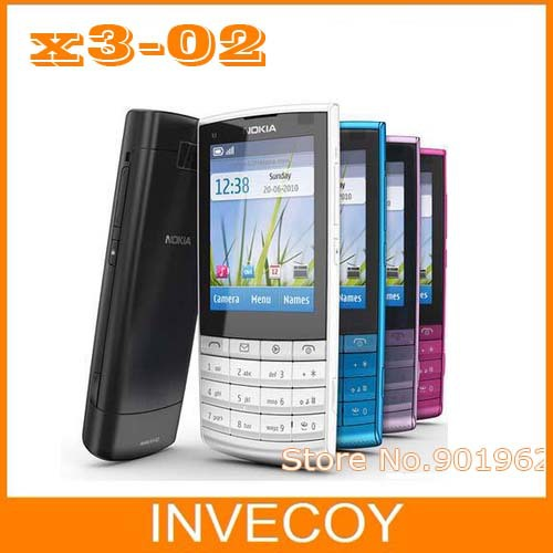 X3-02 original brand nokia X3-02 cell phone,3G,Quad-Band,WiFi,5MP camera with freeshipping(China (Mainland))