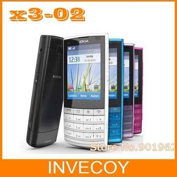X3-02 original brand nokia X3-02 cell phone,3G,Quad-Band,WiFi,5MP camera with freeshipping