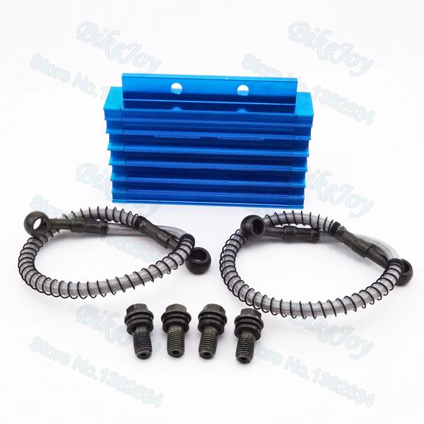 Aluminum CNC Cooling Radiator Oil Cooler Kit For 125 140cc 150cc CRF50 Pit Dirt Bike Motorcycle Motocross(China (Mainland))