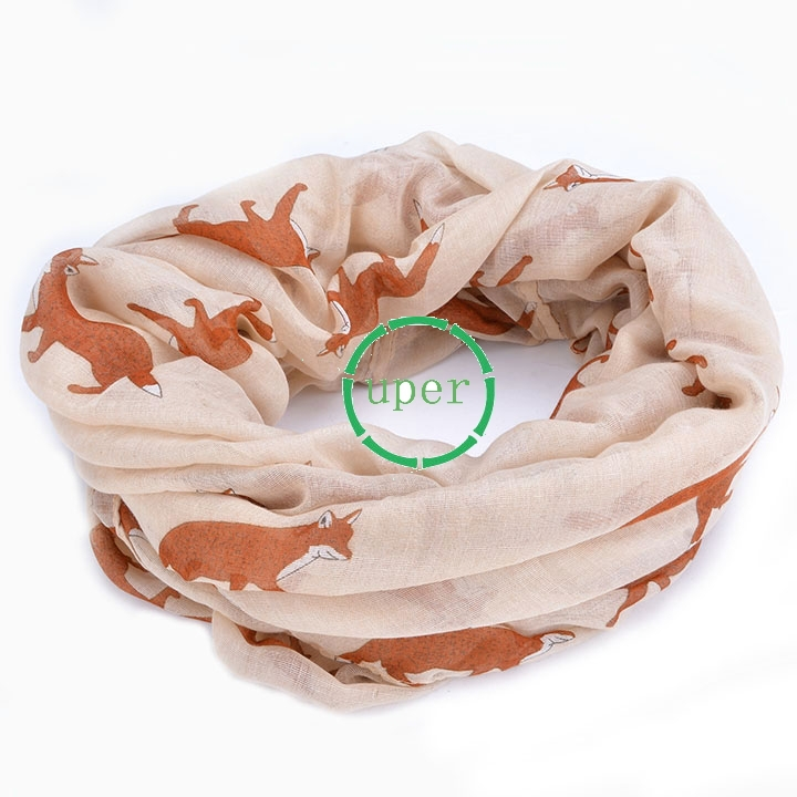 Casual New Fashion Fox Scarf Animal Scarf Women Gifts SV011803 2015 New Arrival(China (Mainland))
