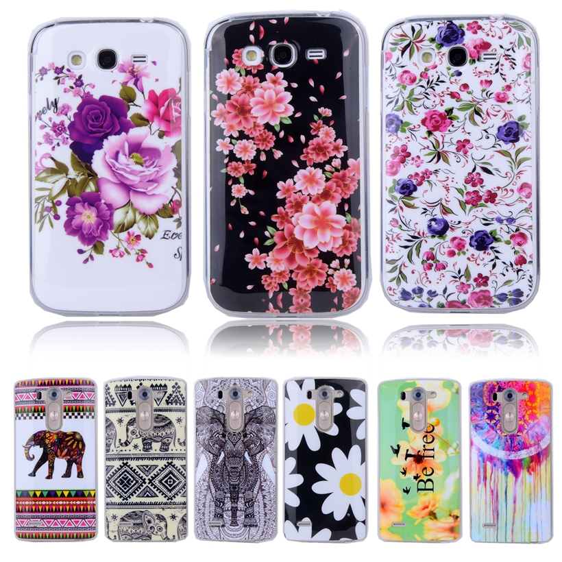 Fashion Cute Owl Flowers TPU Soft Case For SAMSUNG Galaxy Grand Duos i9082 & NEO i9060 Phone ShockProof Silicone Back Skin Cover(China (Mainland))