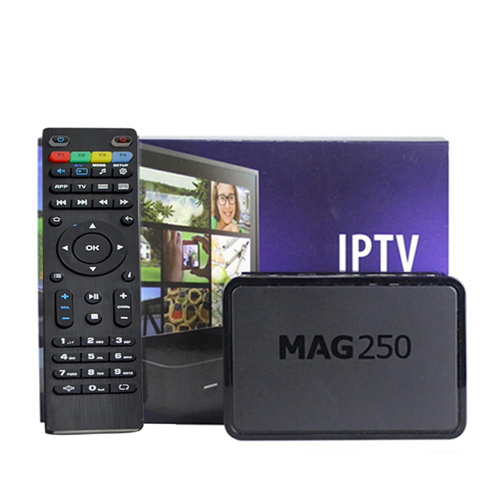 5pcs Mag250 linux system IPTV Set Top Box HD 1080p Satellite Receiver supportlan wifi youtube Mag250 support wifi adapter mag254<br>