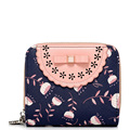 Ladies Sweet Style Print Short Wallet Fashion Hollow Out Chic Bowknot Ladylike Billfold Women Desiger Butterfly