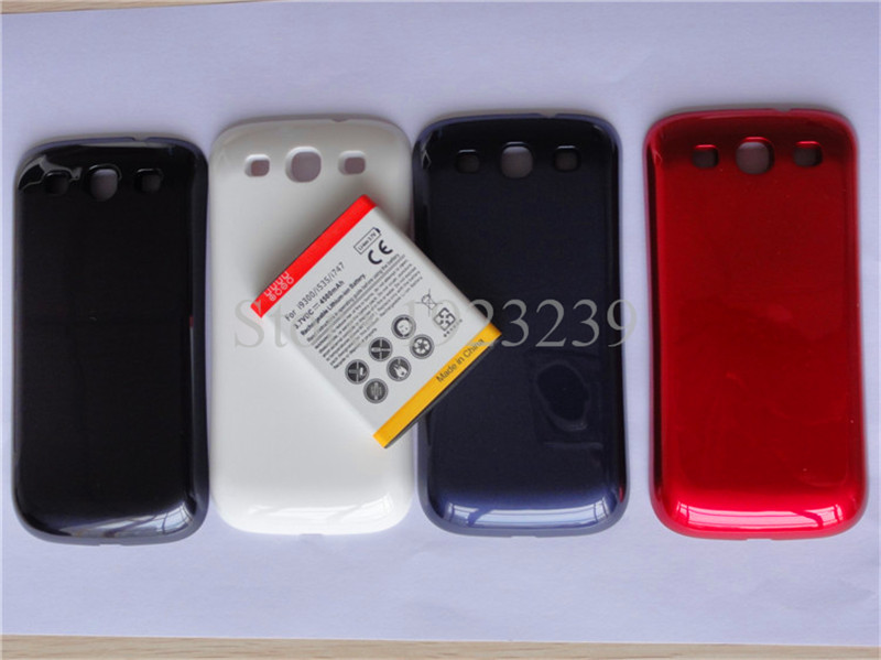 OEM Mobile Phone Replacement Parts Back Housing For Samsung Galaxy S3 SIII i9300 i9305 Battery Door Cover Case + a free battery(China (Mainland))