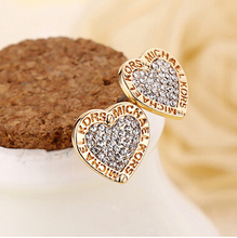 2016 Hot Sale Fashion Earrings Jewelry exquisite small letters heart-shaped Earrings  high-quality(China (Mainland))