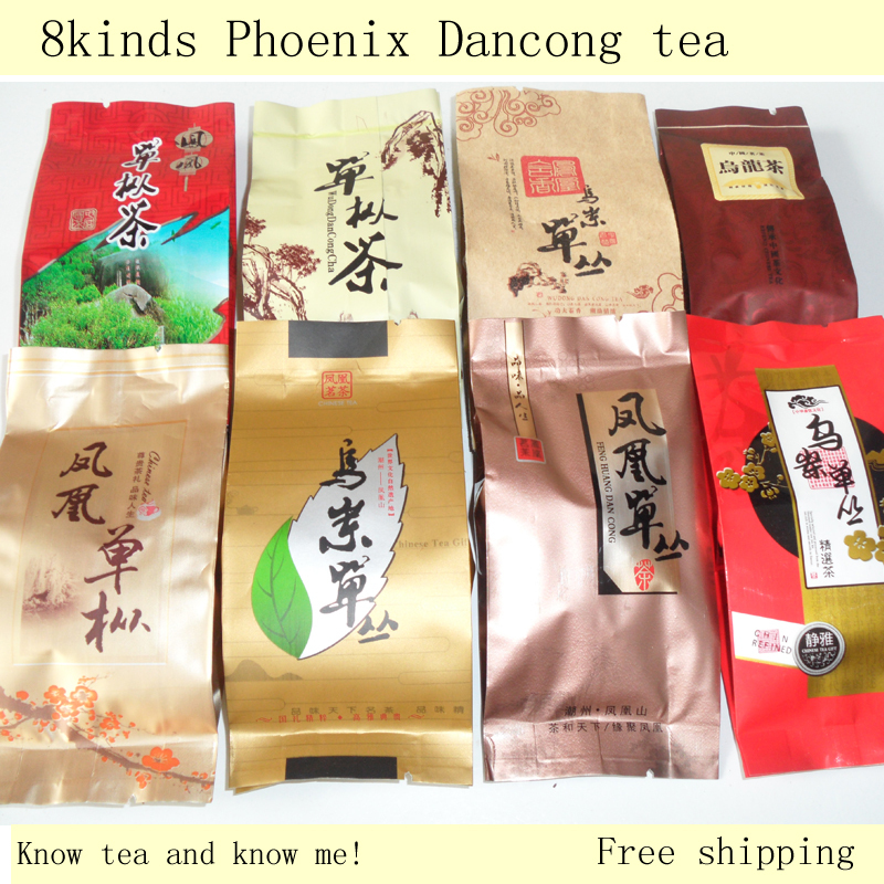China ChaoZhou Phoenix Dancong 8kinds of different tea Oolong Tea Fenghuang high hill tea(China (Mainland))