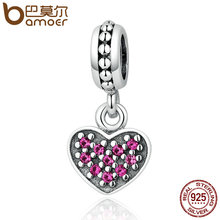 Buy BAMOER 925 Sterling Silver 3 Color Romantic Heart Pendant Charms Fit Women Bracelets Necklaces DIY Jewelry Wholesale PSC005 for $7.03 in AliExpress store