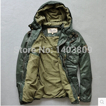 Avirex flight suits hooded men's slim fit sheepskin green genuine leather jackets brand gray casual suede coats winter 1250(China (Mainland))