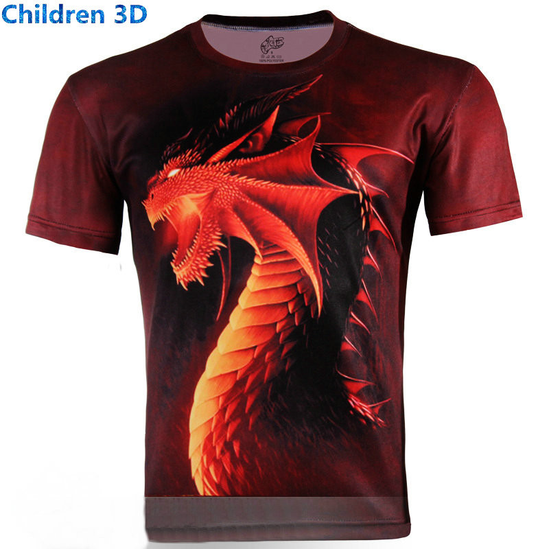 Animal print creative cool children 3d t shirt summer for Leopard print shirts for toddlers