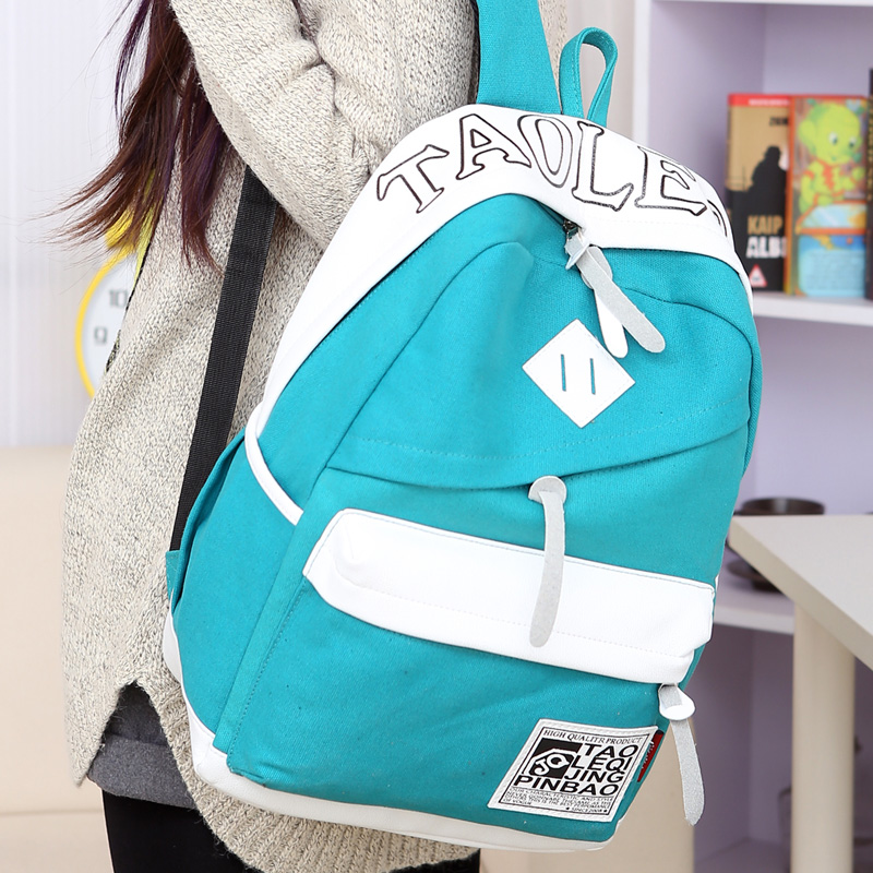 Free shipping  Preppy style canvas backpack middle school students school bag chromophous travel laptop bag backpack<br><br>Aliexpress