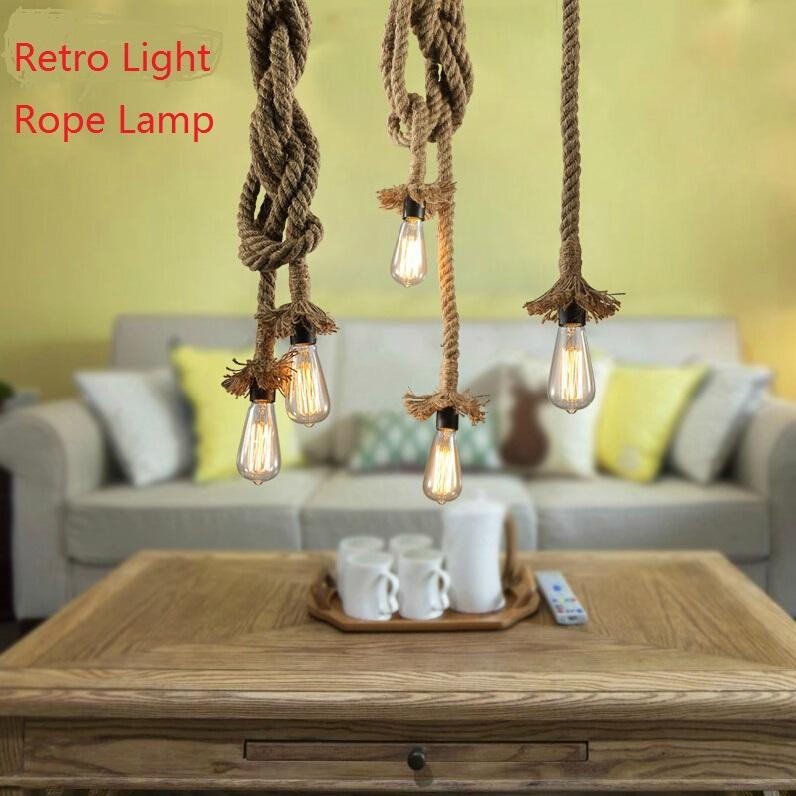 Creative Retro Light Rope Lamp With Top Tray E27 LED