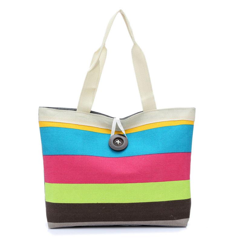 Cheap handbag shoulder, Buy Quality handbags floral directly from China  handbag storage bag Suppliers  Fashion Lady Canvas Shoulder Bag stripe  printed Tote ... 1b9ce2dfff