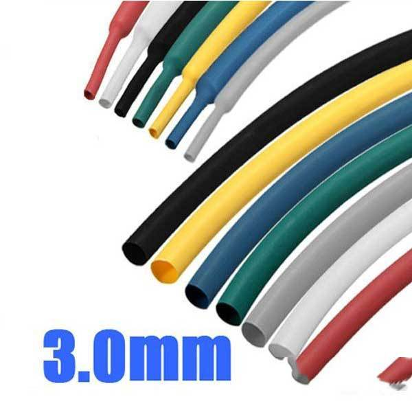 Cantigado 1 8 Inch 1M 3.0MM 7Color 2:1 Polyolefin Heat Shrink Tube Sleeving Wrap(China (Mainland))