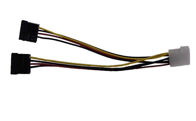 Free shipping H&L 4 pin female IDE to 2*15 pin Serial ATA SATA Splitter Power adapter Cable(China (Mainland))