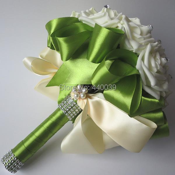 Acheter belle de mariage bouquet de mari e demoiselle d 39 h - Bouquet de fleurs artificielles mariage ...