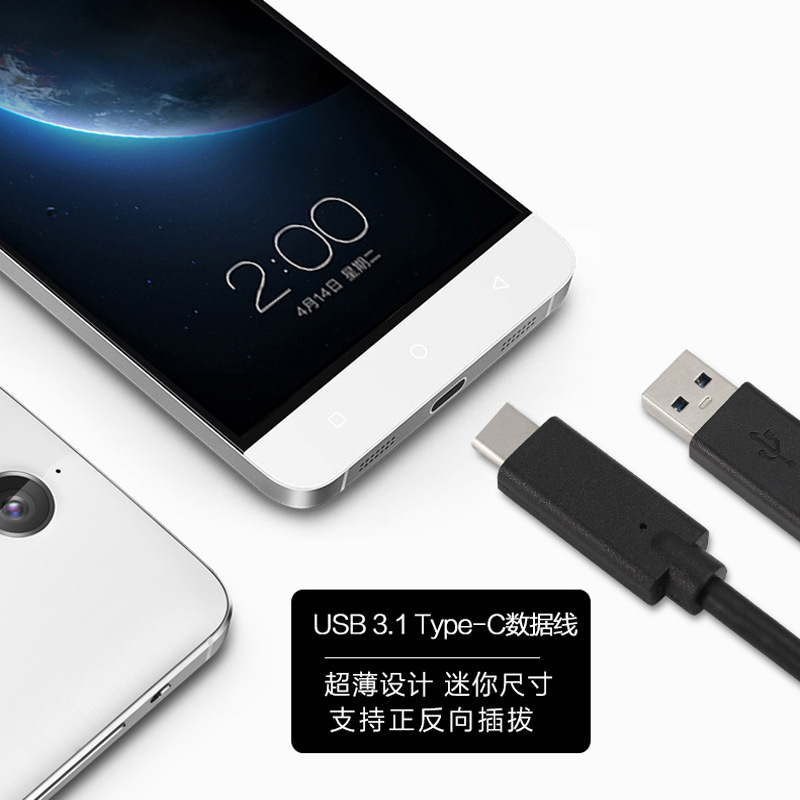 2016 Charger For Oneplus Two USB 3.1 Type-C Data Sync Charging Cable for New Macbook for Nokia N1 for Letv One Pro Charge Cable