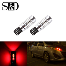 Buy 4PCS T10 W5W 10-SMD 5630 Red CANBUS OBC Error Free LED Lamp 501 dash Car LED bulbs interior Auto Lights Source parking 12V for $6.96 in AliExpress store
