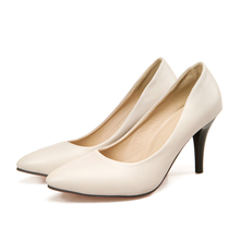 ARMOIRE Brand New Hot Fashion Women Nude Pumps Black White Beige Ladies High Heels Shoes Breathable