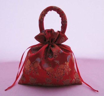 Free shipping ! peony wedding candy bags 18*20(cm), large size gift bag, TD82-red,150pcs/lot