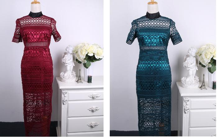 Europe And The United States Self Portrait   Major Suit High-end Lace Collar Waist Dress