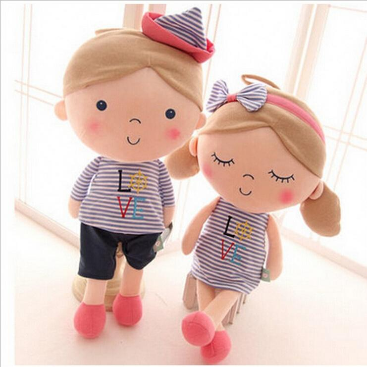 30cm 2PCS Lovely seashell son a couple toys navy boys and girls plush doll birthday gift(China (Mainland))