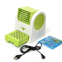 GTFS Hot Adjustable Angles Scented USB Electric Air Conditioning Mini Fan Air Cooler Green