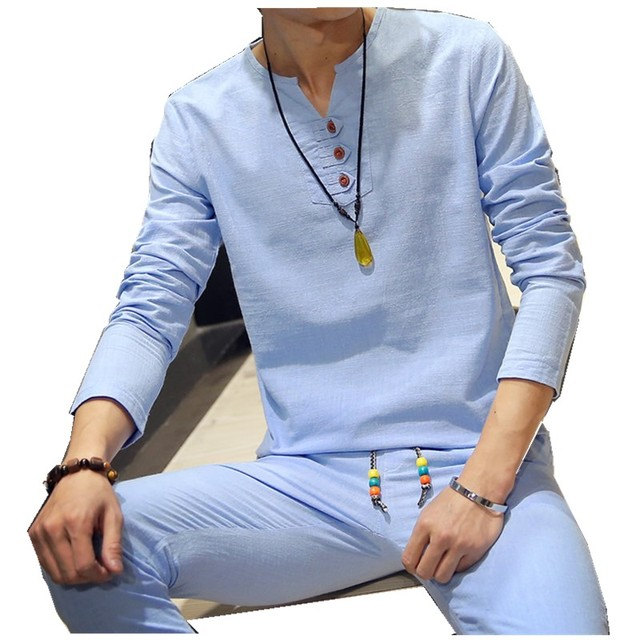 Первая - ручной источники производители мужчины с длинными рукавами льняная рубашка ...