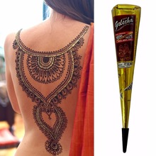 New Arrival  High Quality Mini Natural Indian Tattoo Henna Paste for Body Drawing  Black Henna  Free Shipping(China (Mainland))