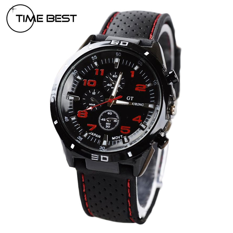 Silicone Clock Fashion Hours Wristwatch Men Military Outdoor New Arrival Cool Casual Quartz Watch Watches Sport(China (Mainland))