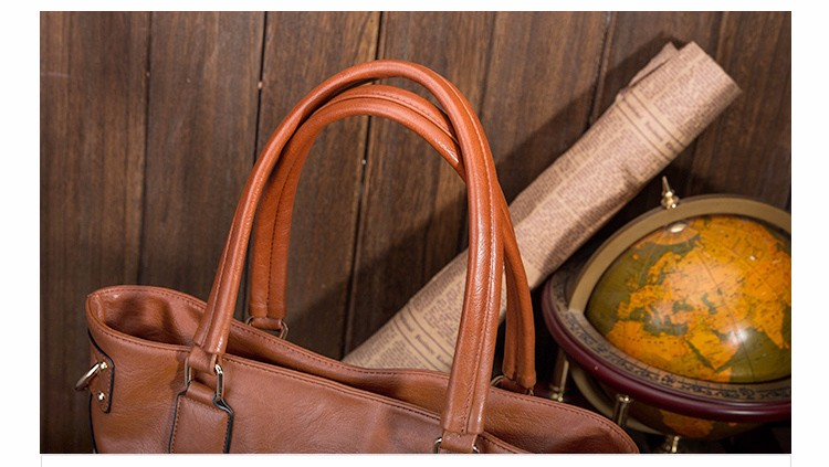 2016 Ellacey Brand Handbags Women Shoulder Big Bag PU Leather Casual Totes Luxury Designer Women Messenger Bags Bolsa Feminina