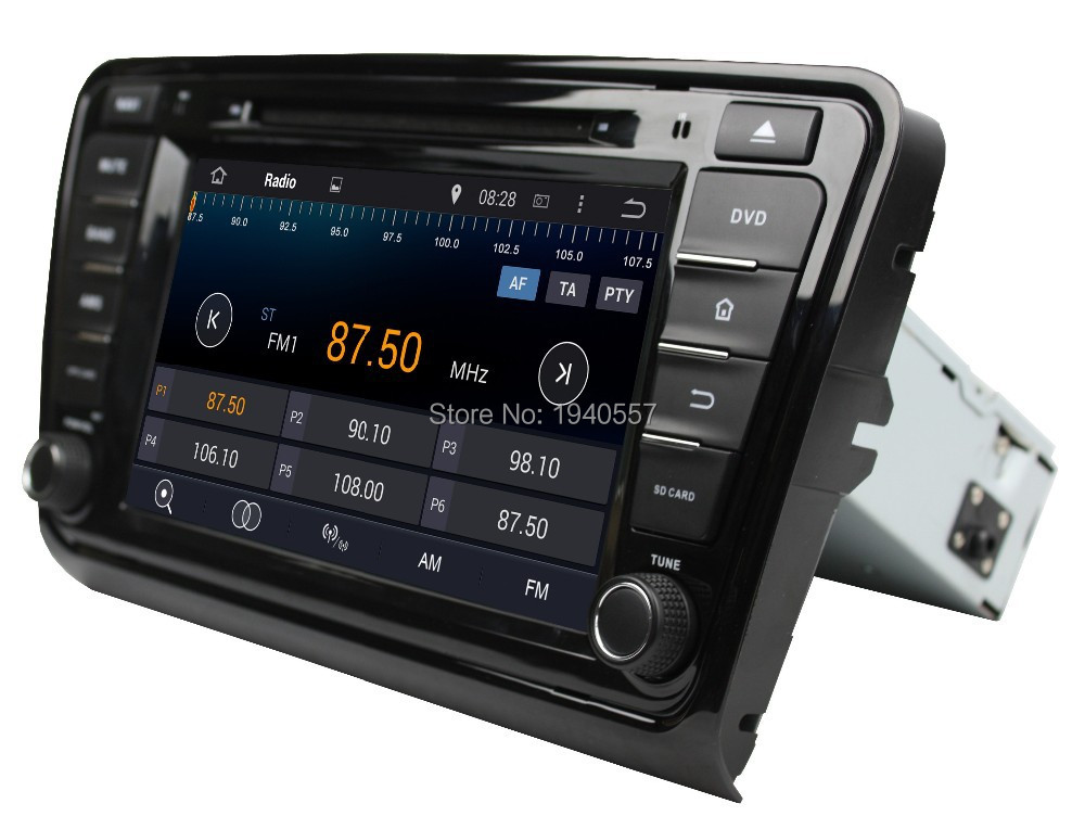 """Quad Core 1024*600 Android 5.1.1 HD 1 din 8"""" Car radio dvd player for Skoda Octavia 2014 With GPS 3G WIFI Bluetooth IPOD TV USB(China (Mainland))"""