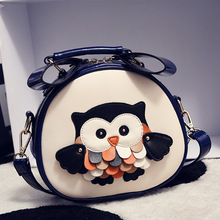 2016 New Summer Girls Cute Owl Printed Crossbody Small Bags sacoche homme marque Casual Mini Ladies Purse Women Shoulder Bags