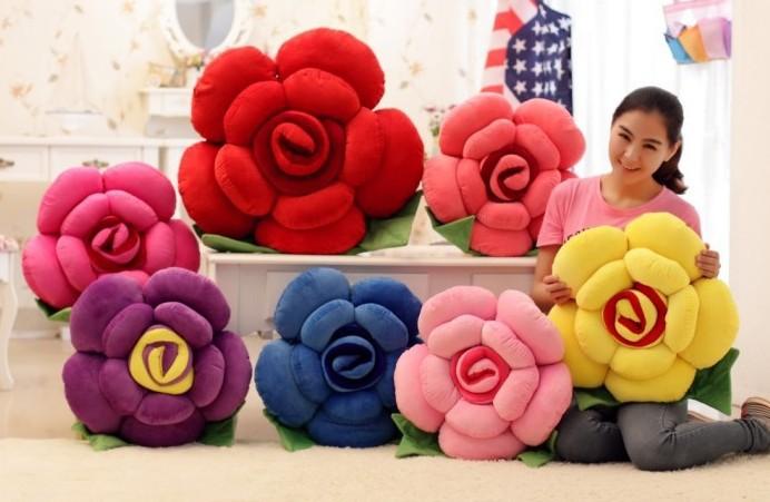 Цветы плюшевые