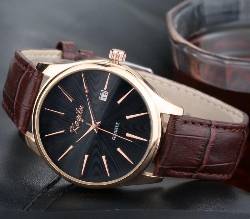 mens watches top brand luxury Calendar high quality fashion design Genuine leather men quartz watch 2015