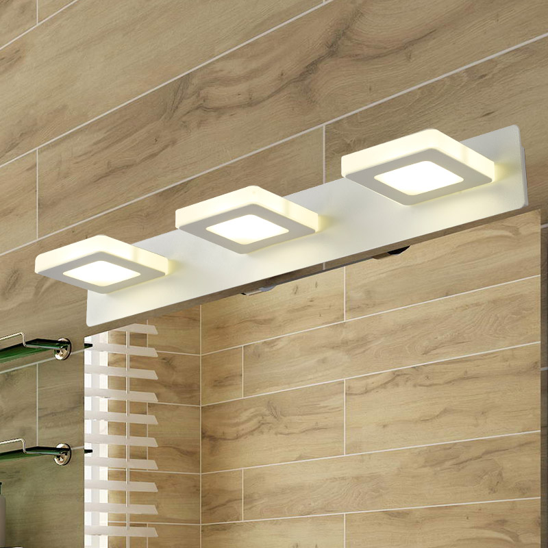 led mirror light 15W PMMA waterproof bathroom wall mirror lamp acryl 220v bedroom makeup lighting <br><br>Aliexpress